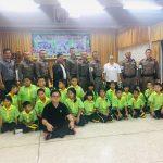 กิจกรรมรณรงค์ เด็กไทยข้ามถนนปลอดภัย โรงเรียนลำผักชี กทม. ( 29 พ.ค.2562 )